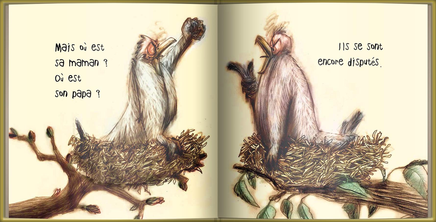 Page intérieure du livre Lili entre deux nids