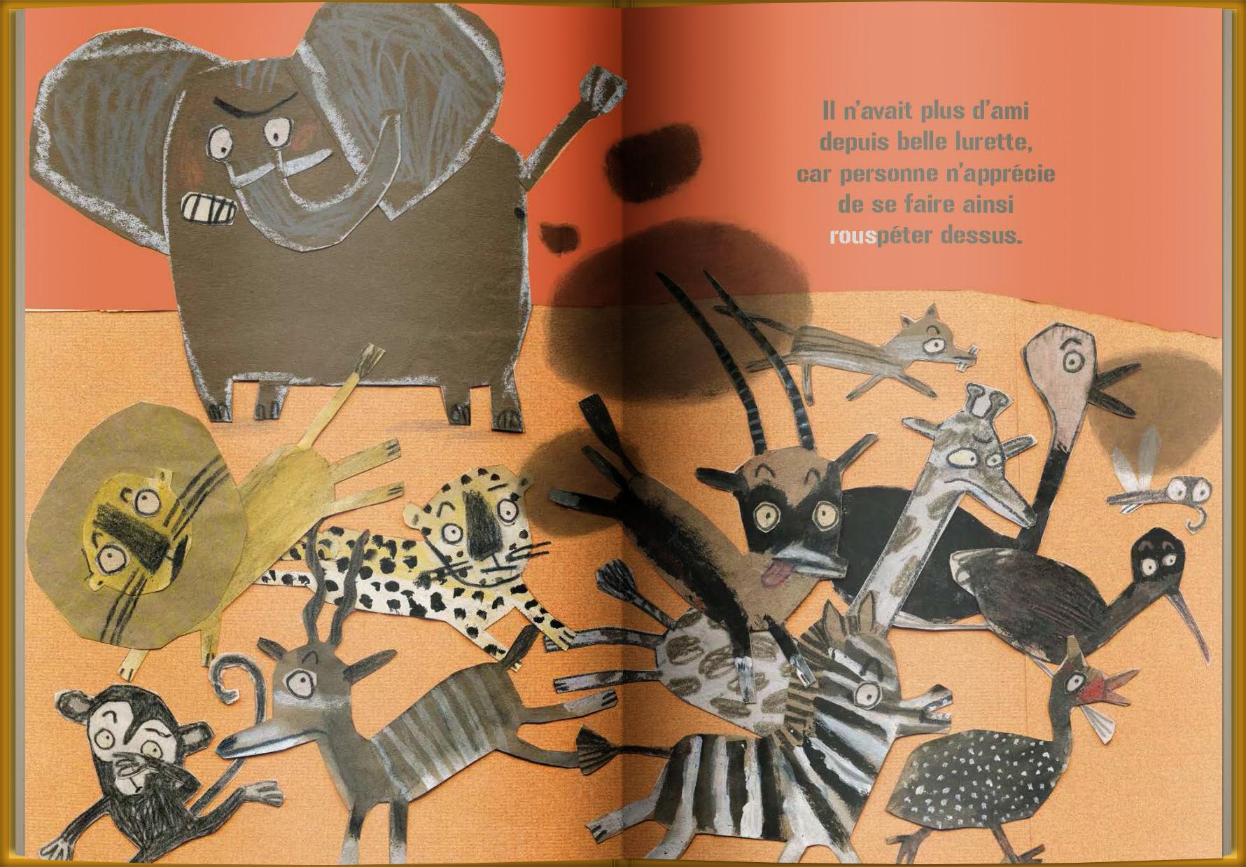 Page intérieure du livre Tempête sur la savane