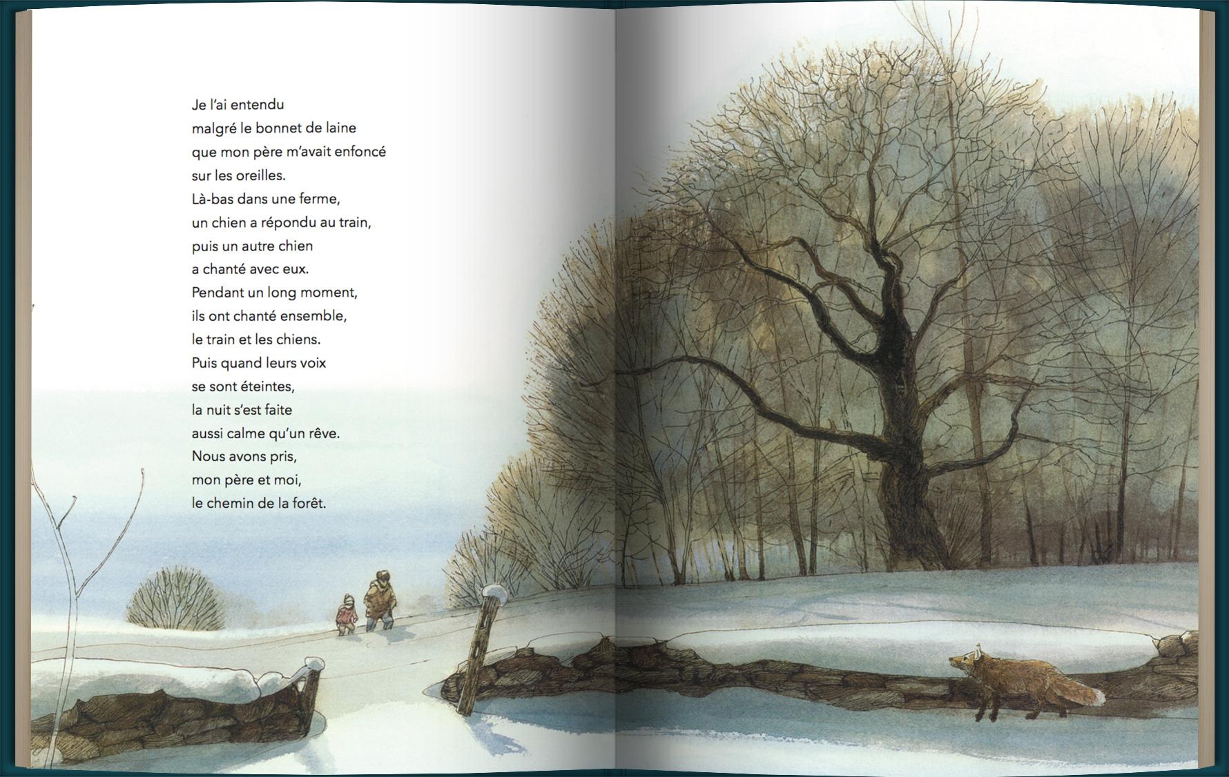 Page intérieure du livre Des ailes dans la nuit