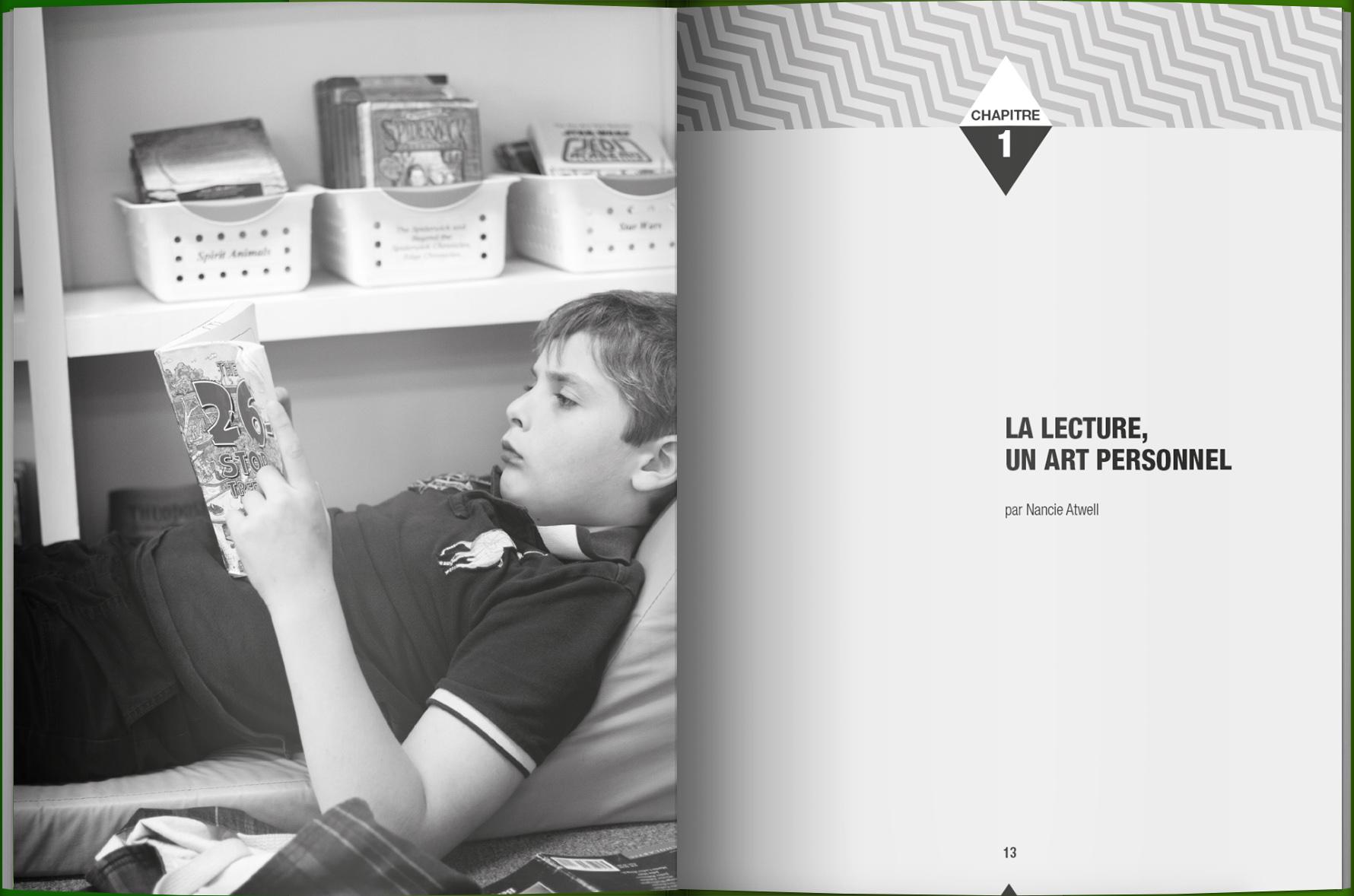 Page intérieure du livre La zone lecture