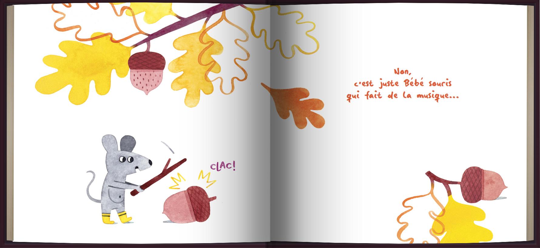 Page intérieure du livre Mais qui fait tout ce bruit?