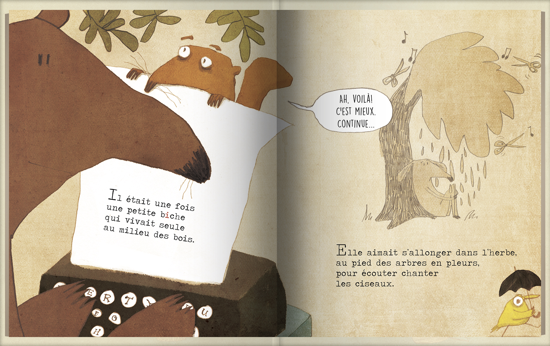Page intérieure du livre La petite bûche