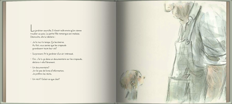 Page intérieure du livre Le jardinier qui cultivait des livres