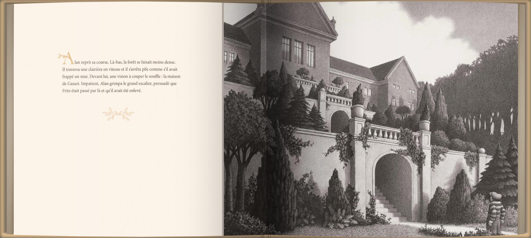 Page intérieure du livre Le jardin d'Abdul Gasazi