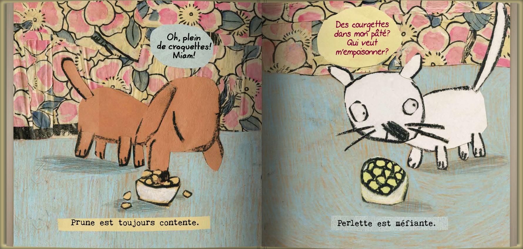 Page intérieure du livre Prune et Perlette