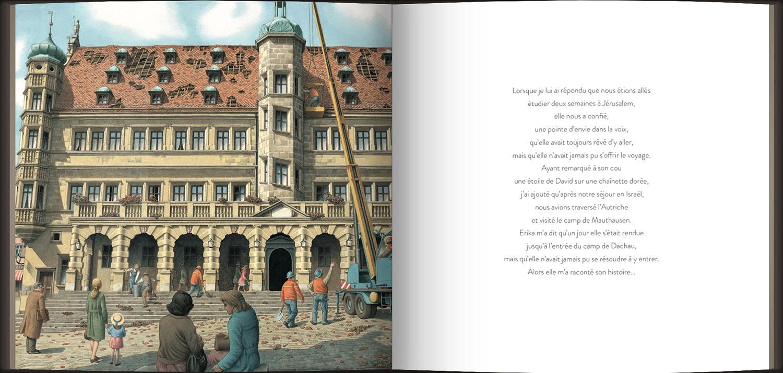 Page intérieure du livre L'histoire d'Erika