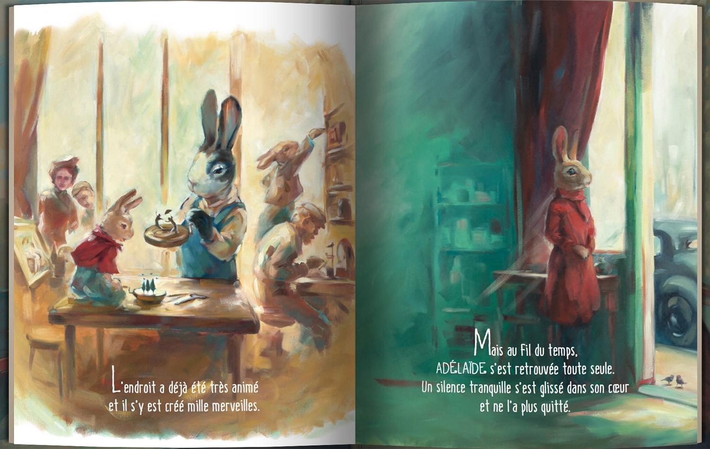 Page intérieure du livre Le monde secret d'Adélaïde