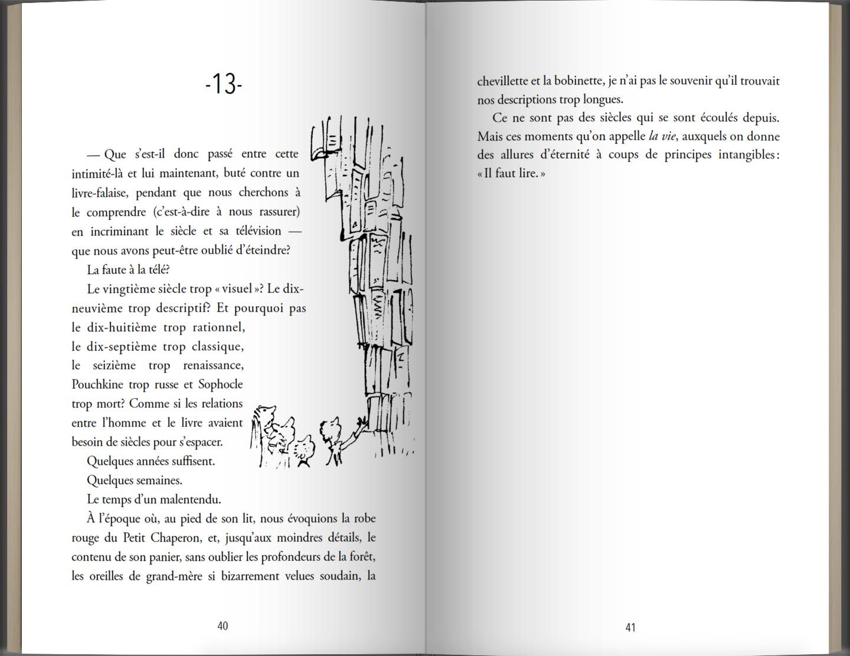 Page intérieure du livre Comme un roman