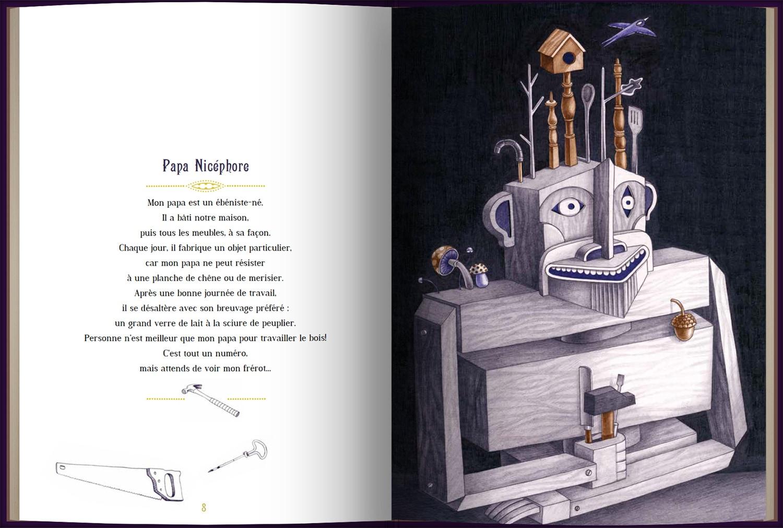 Page intérieure du livre Mon étrange famille