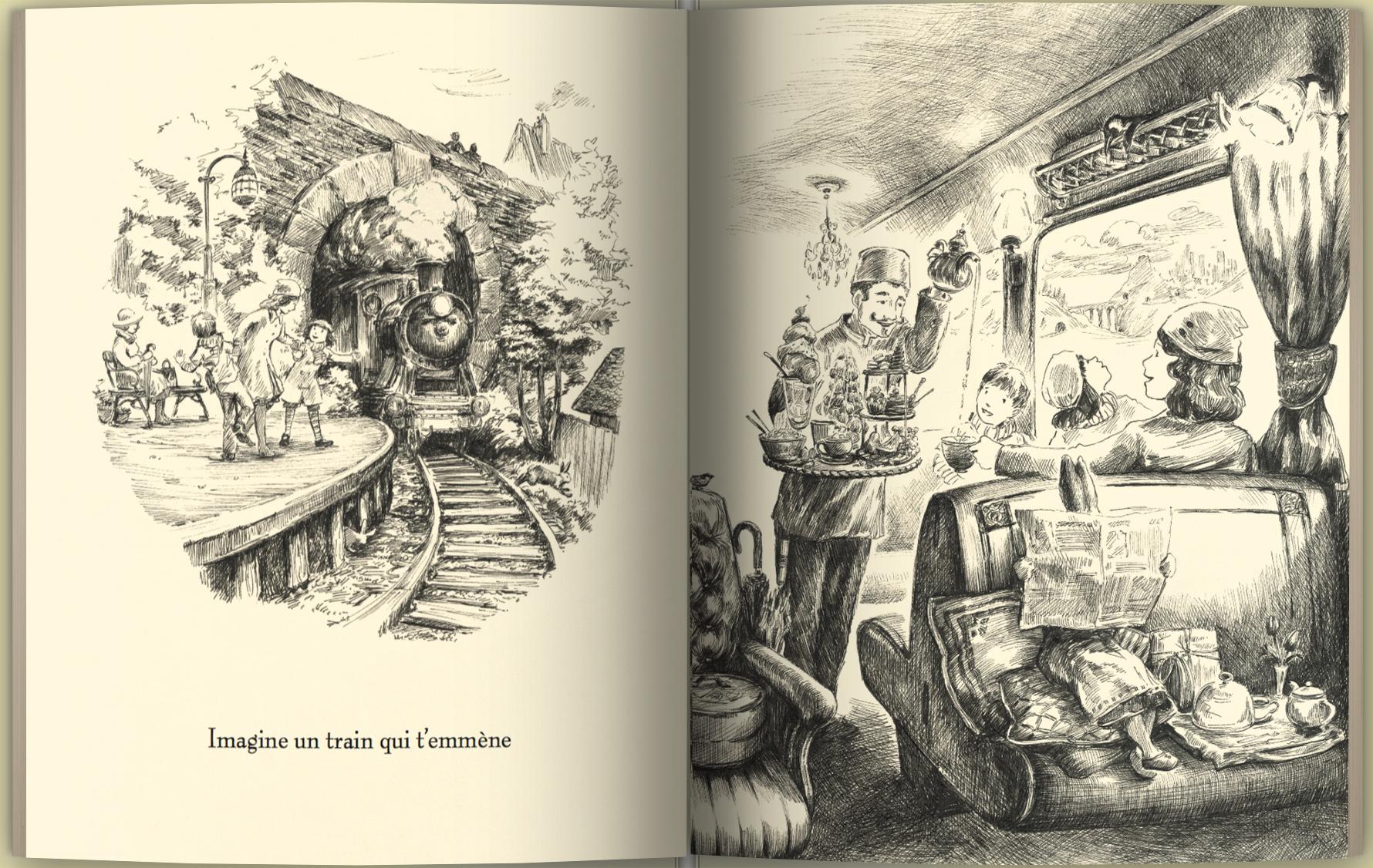 Page intérieure du livre Imagine une ville