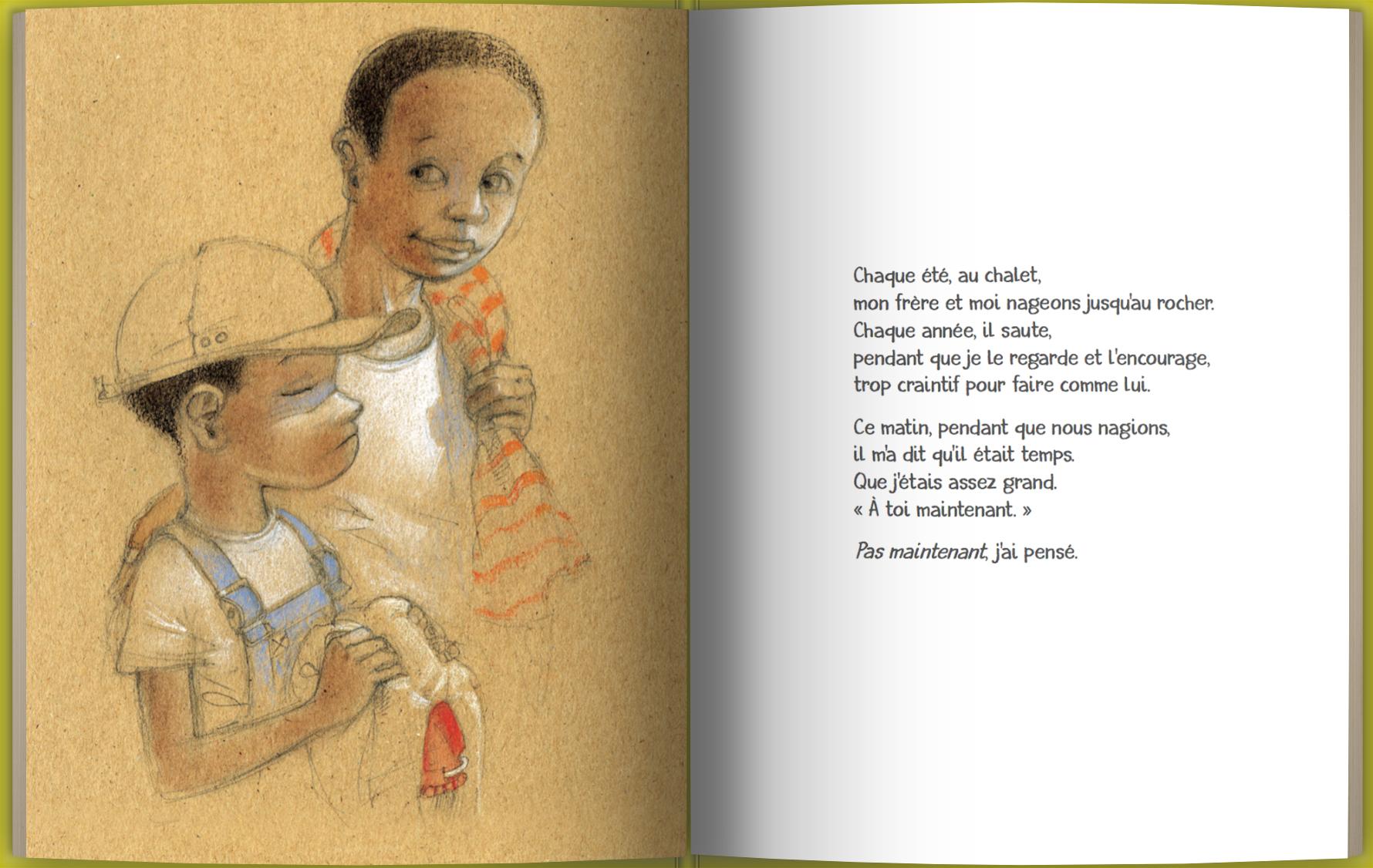 Page intérieure du livre Mon frère et moi