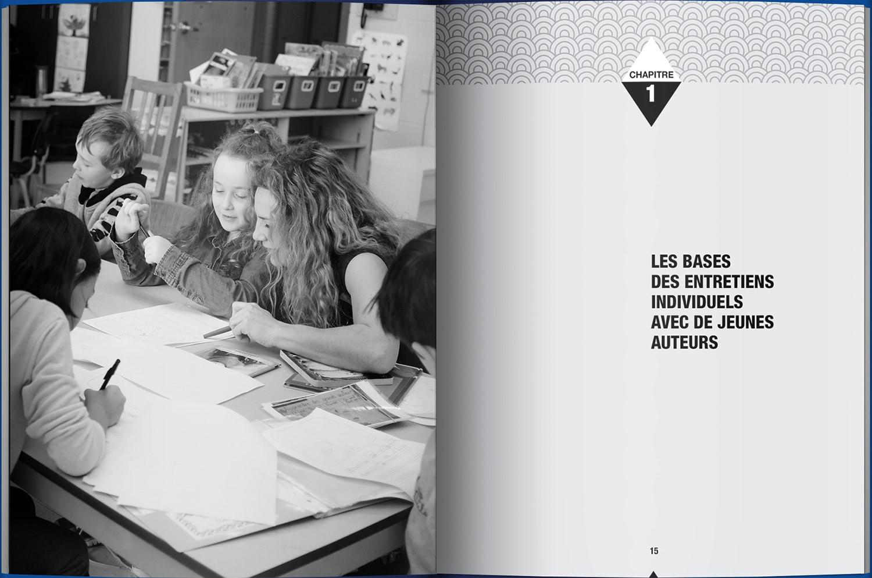 Page intérieure du livre Les entretiens, l'art de converser avec de jeunes auteurs
