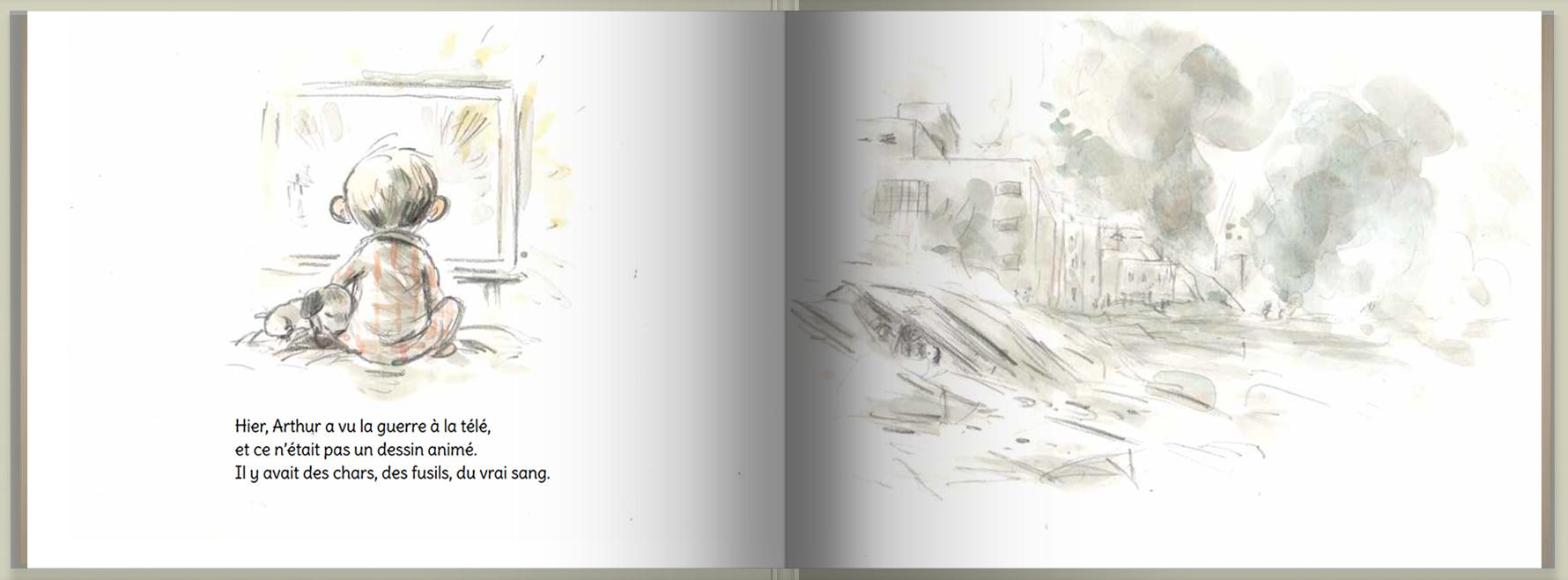 Page intérieure du livre Arthur et Malika