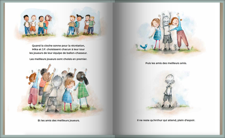 Page intérieure du livre Le garçon invisible