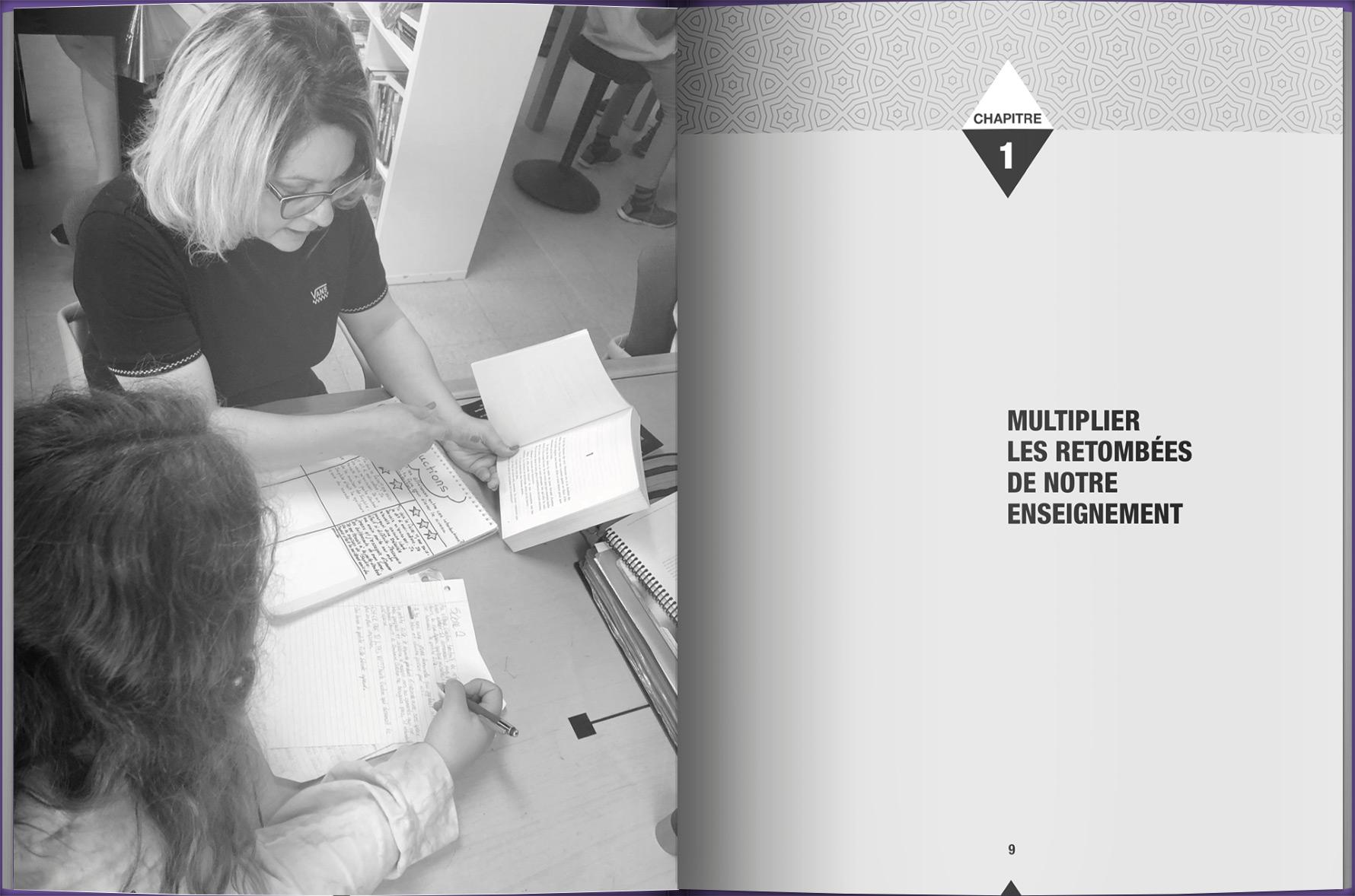 Page intérieure du livre Sur le terrain : Des outils pour la différenciation, la rigueur et l'autonomie