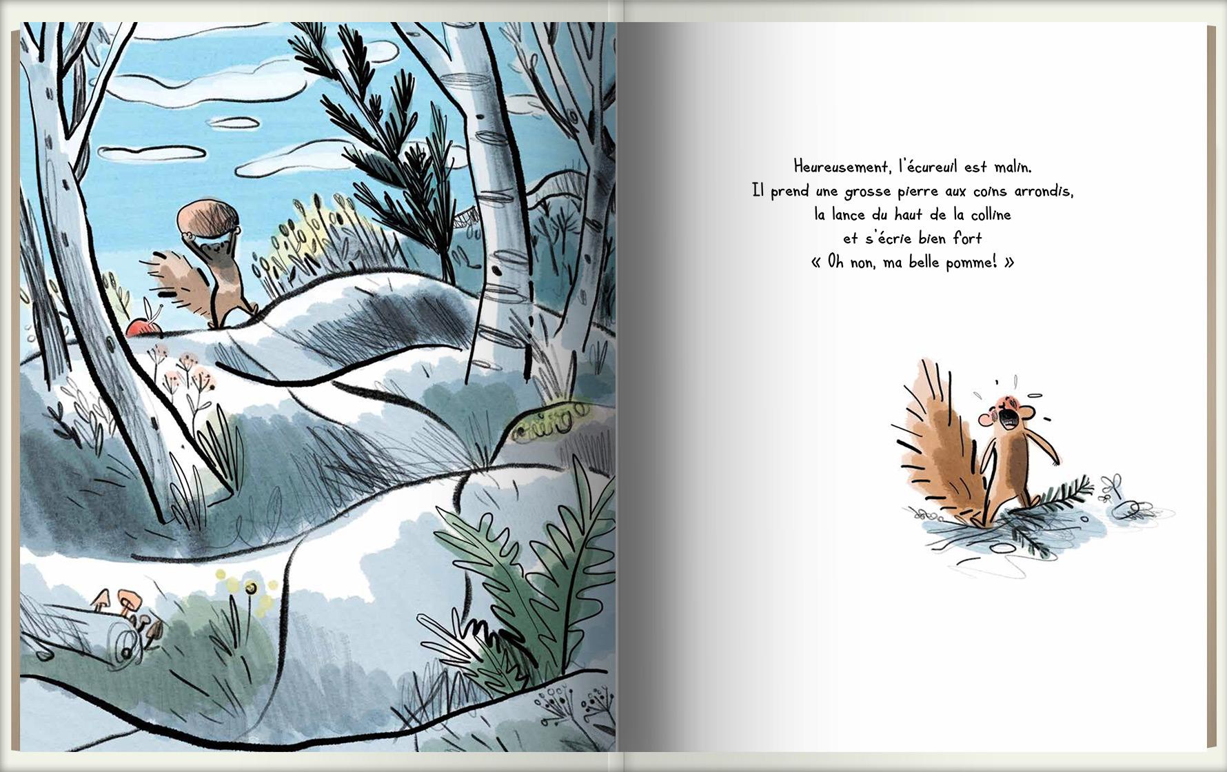 Page intérieure du livre Pierre qui roule