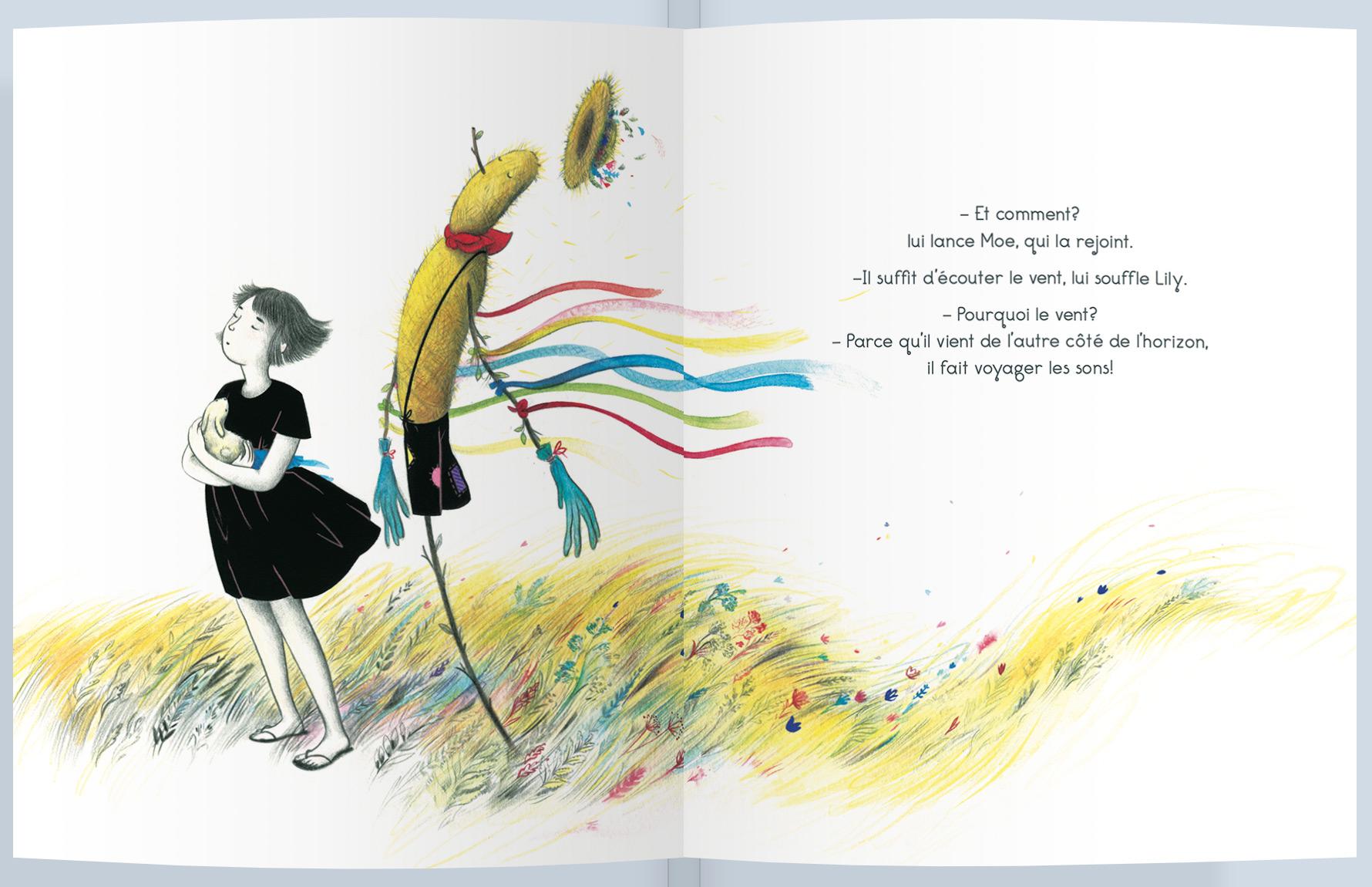 Page intérieure du livre Les yeux fermés