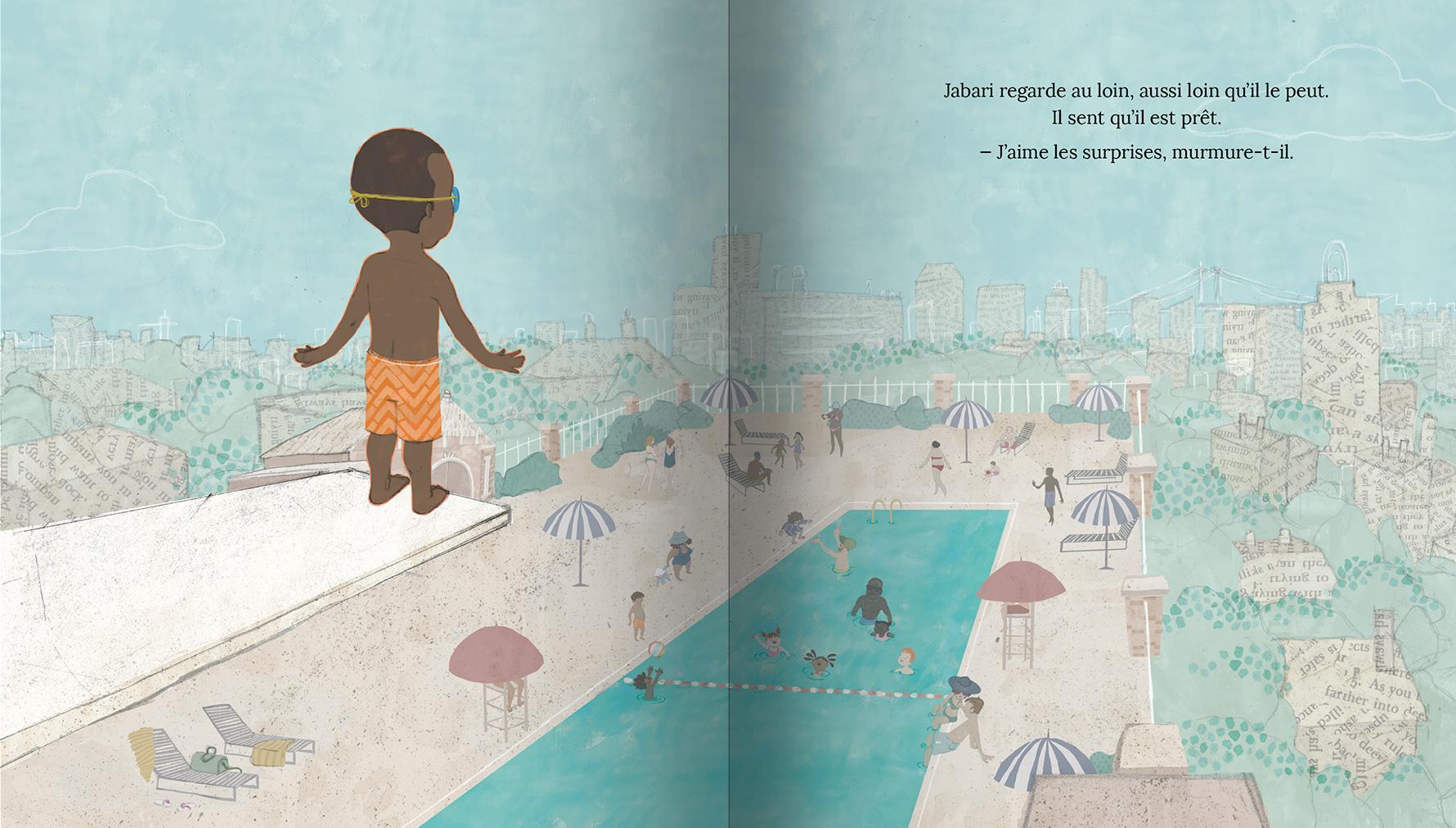 Page intérieure du livre Jabari plonge