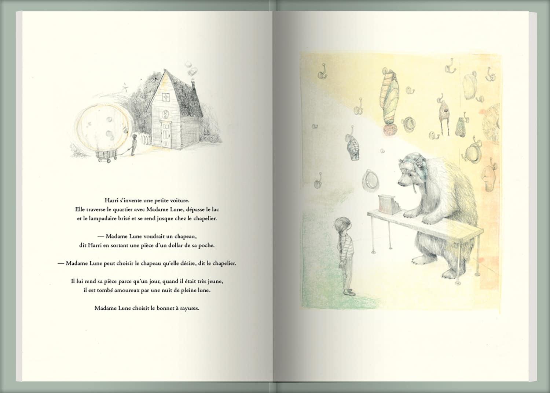 Page intérieure du livre Une musique pour Madame Lune