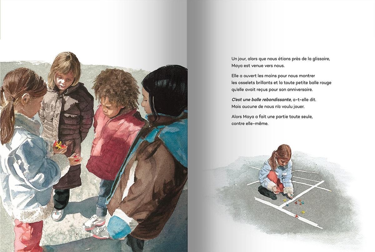 Page intérieure du livre Un petit geste