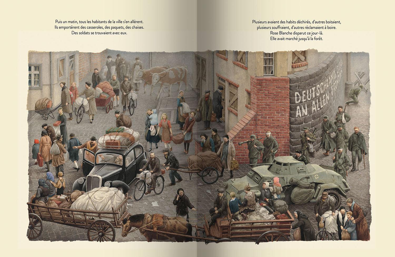 Page intérieure du livre Rose Blanche