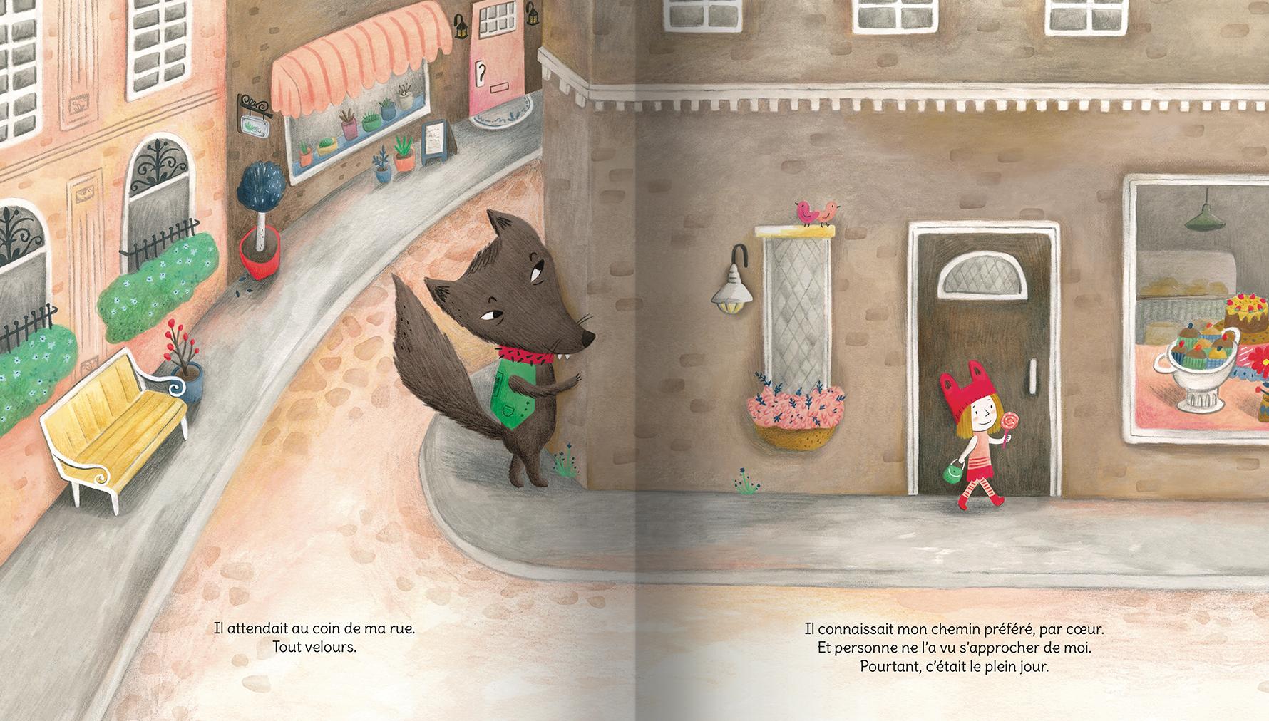 Page intérieure du livre Dans le ventre du loup