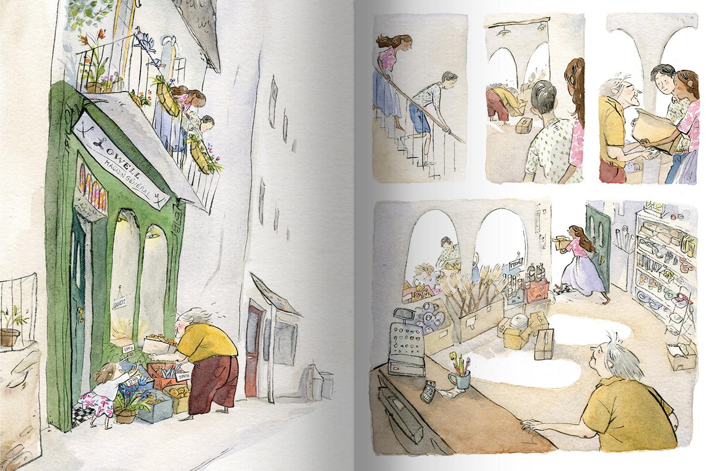 Page intérieure du livre Au 2e étage