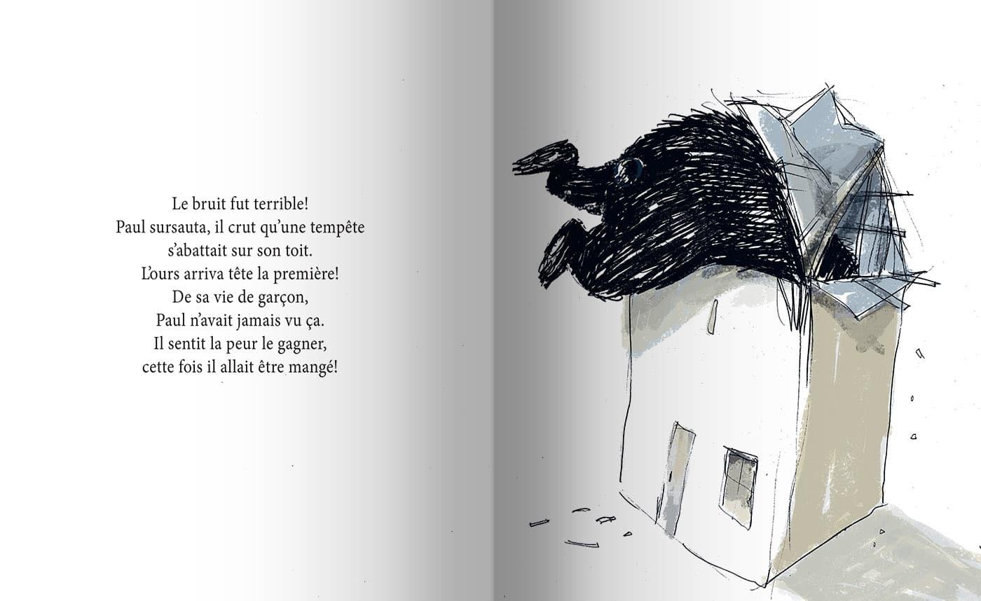Page intérieure du livre La visite