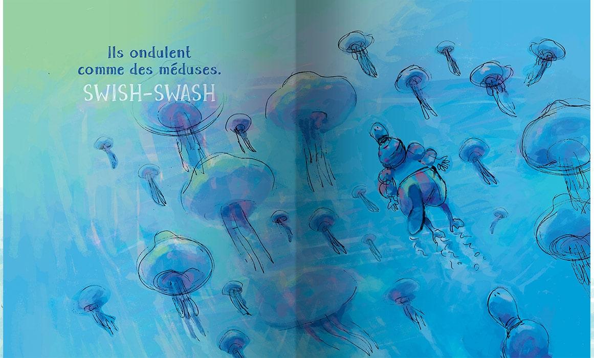 Page intérieure du livre Philémon à la mer
